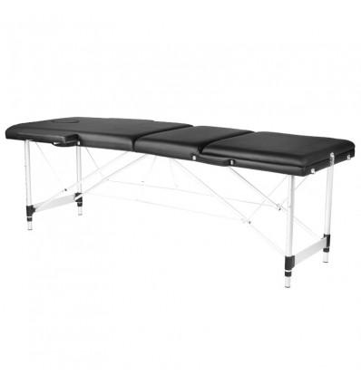 3 dalių masažo stalas su aliuminėmis kojomis