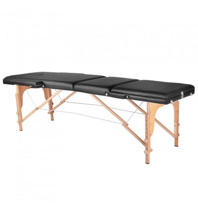 """3 dalių sulankstomas masažo stalas """"WOOD COMFORT"""""""