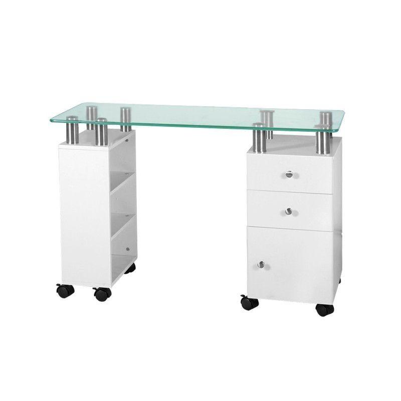 Manikiūro staliukas su stiklu