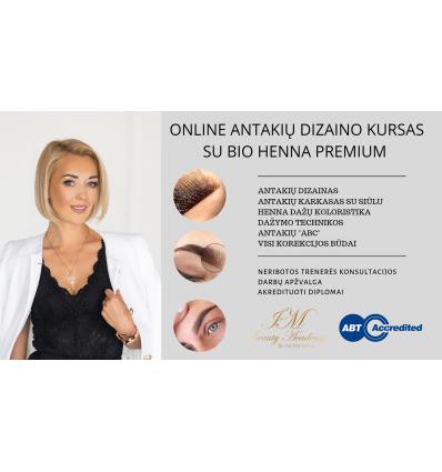 """Antakių dizainas su """"Bio Henna Premium"""" instruktore Ina Morozova"""