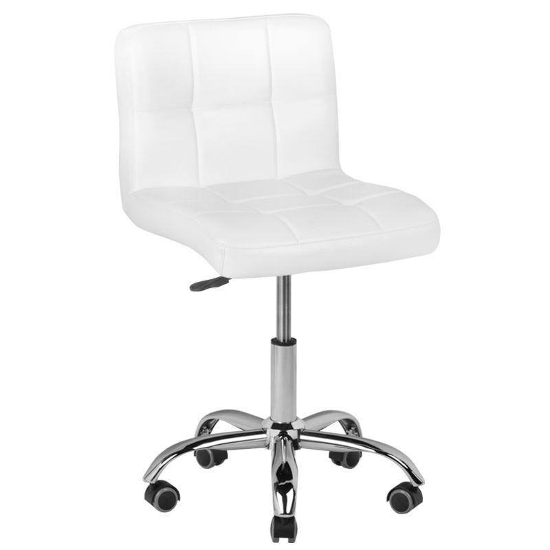 Balta meistro kėdė su guminiais ratukais A-5299