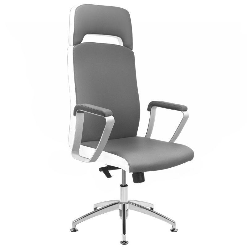 Kosmetologinė kėdė RICO A1501-1 pedikiūrui/ makiažui , pilkai balta